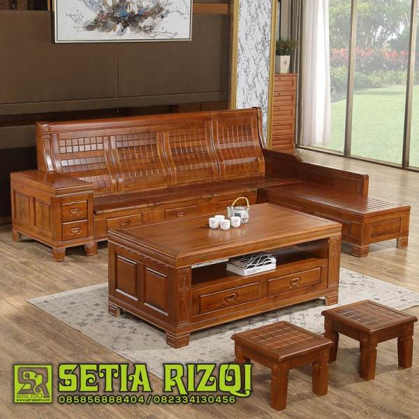 Kursi Tamu Sofa Kayu Jati Interior Klasik High Quality Furniture