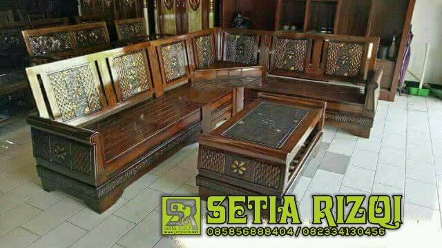 Set Kursi Tamu Mewah Putih Duco Modern High Quality Furniture Jepara