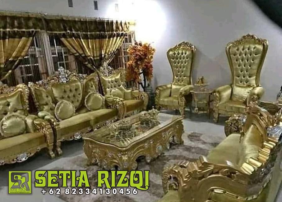 Kursi 1 Set Sofa Ruang Tamu Mewah Ukiran Jepara