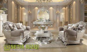 Sofa Ruang Tamu Mewah Ukir Klasik Jepara Duco