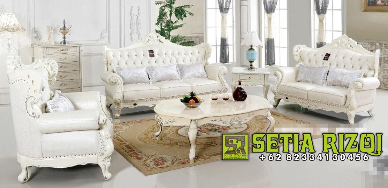 Sofa Ruang Tamu Mewah Putih Duco Moderen