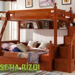 Tempat Tidur Tingkat Jati Klasik Minimalis Jepara