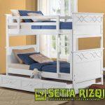 Tempat Tidur Tingkat Ukiran Klasik Minimalis Jepara