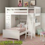 Tempat Tidur Tingkat Klasik Putih Duco Minimalis Jepara