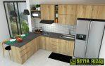 Kitchen Set Modern Minimalis Mahoni Jepara