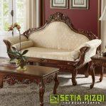 Kursi Sofa Minimalis Mewah Kayu Jepara