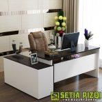 Meja Kantor Cat Duco Klasik Minimalis Jepara