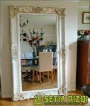 Pigura Cermin Minimalis Duco Antik Jepara