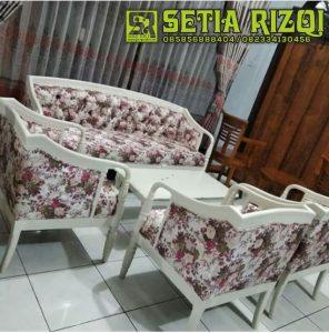 Kursi Sofa Klasik Putih Duco Minimalis Jepara