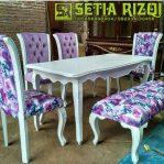 Kursi Meja Makan Klasik Putih Duco Minimalis Jepara