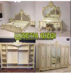 Set Kamar Tidur Klasik Putih Duco Minimalis Jepara