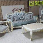 Kursi Klasik Putih Duco Minimalis Jepara