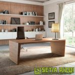Meja Kantor Minimalis Kayu Jati Jepara