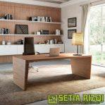 Meja Kantor Minimalis Mewah Kayu Jepara
