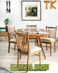 Set Meja Makan Minimalis Klasik Eropa Jepara