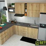 Kitchen Set Klasik Kayu Mahoni Jepara