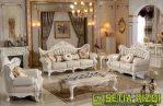 Set Kursi Tamu Klasik Putih Duco Minimalis Jepara