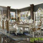 Meja Kursi Makan Minimalis Klasik Eropa Jepara