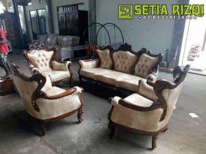 Set Kursi Sofa Tamu Ukiran Jepara