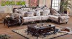 Sofa Sudut Ukiran Klasik Elegan Terbaru