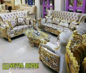 Sofa Tamu Ukiran Mewah Jati Jepara Terbaru