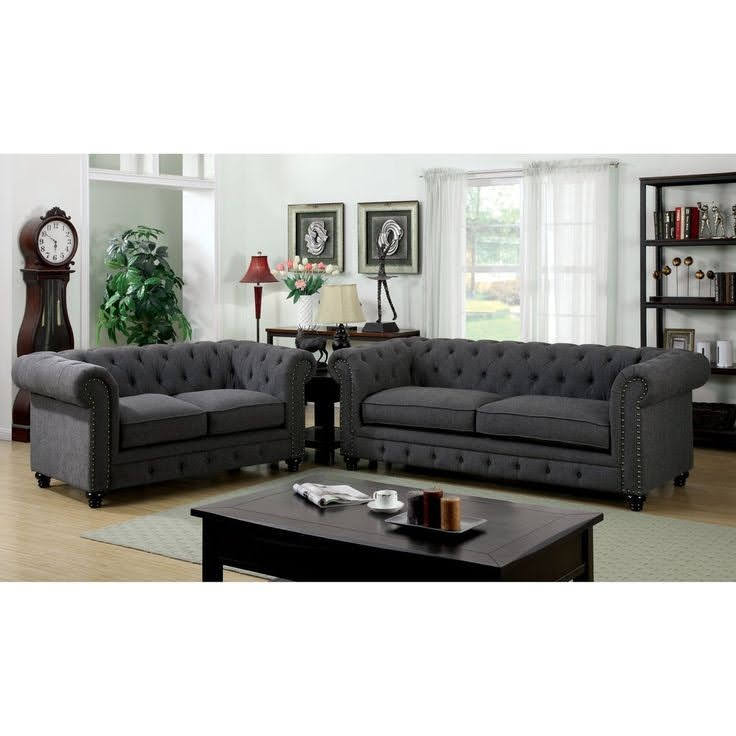 sofa chesterfield simpel elegan